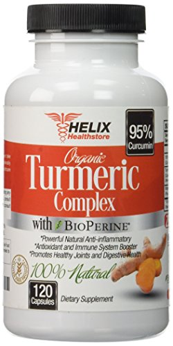 41afwnao71L - Turmeric Curcumin with BioPerine Black Pepper Extract - 120 Vegan Capsules Made with Organic Turmeric Root Powder - Best Natural Joint Pain Supplement & Anti-Inflammatory Pills - Highest Potency