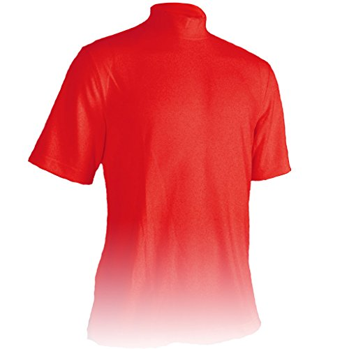 Monterey Club Mens Dry Swing Classic Pique Mock Neck Shirt #3304 (Red, Large)