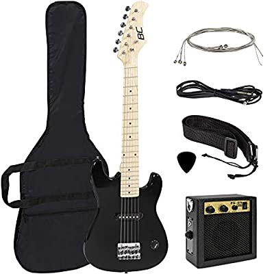 Best Choice Products 30in Kids 6-String Electric Guitar Musical Instrument Starter Kit w/ 5W Amplifier, Shoulder Straps, Nylon Carrying Bag, Strings, Picks