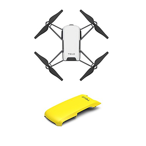 Tello Quadcopter Drone with HD Camera and VR,Powered by DJI Technology and Intel Processor,Coding Education,DIY Accessories,Throw and Fly (with Yellow Cover)