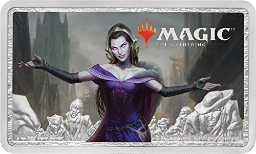 2019 NU Magic: The Gathering - Liliana, the Last Hope Silver 1 oz. Coin - with all original Mint packaging $2 Brilliant Uncirculated