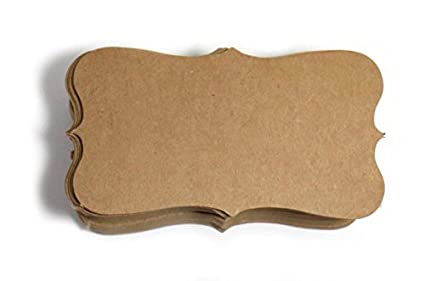 amazon com kraft paper business cards 100 paper k04 blank