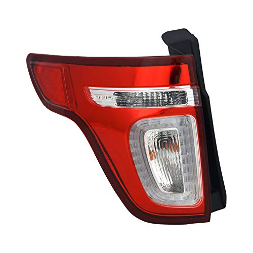 Value Tail Lamp Assembly Driver Side Fits 2011-2015 Ford Explorer OE Quality Replacement
