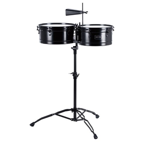 Gon Bops Fiesta Timbale Set, Black Powder Coated Steel by Gon Bops