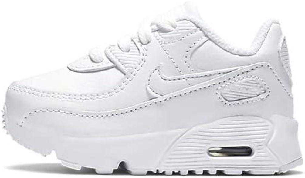 Nike Air Max 90 LTR White/White-Metallic Silver (TD)