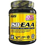 Man Sports ISO-EAA - Advanced Electrolyte Hydration, BCAA, and EAA - Branched Chain Amino Acids and Essential Amino Acids - Prevent Muscle Soreness - 690 Grams, 30 Servings - Jolly Watermelon