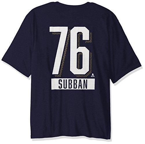 Levelwear NHL Nashville Predators P.K. Subban Adult Men Icing Name Men's Tee,XXL,Solid Navy