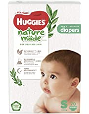HUGGIES Platinum Naturemade Tape Diapers, S, 70 Pieces