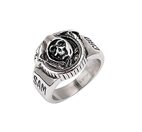 Sons of Anarchy Grim Reaper Skull Stainless Steel Ring - Size 9 ()