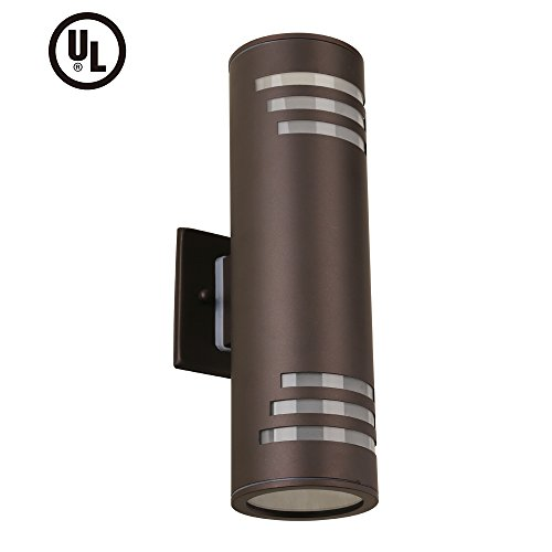 - Housen Solutions Outdoor Wall Light - UL LISTED Porch Light Fixture, IP54 Waterproof Wall Sconce, Stainless Steel 304 Cylinder for Garden & Patio