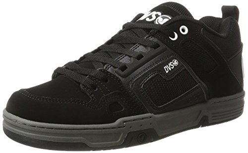 DVS Men's Comanche Skateboarding Shoe Black/Black Leather Nubuck discount finishline excellent for sale Qkk4Bc