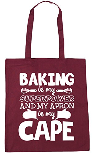 x38cm Burgundy 42cm cape superpower my Tote litres Gym Shopping 10 apron HippoWarehouse and Baking my is Beach is Bag Uq4n8ZnR