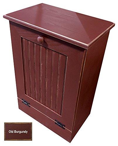 Out Waste Bin (Tilt-Out Trash Bin Holder (Old Burgundy) Many Colors Available)