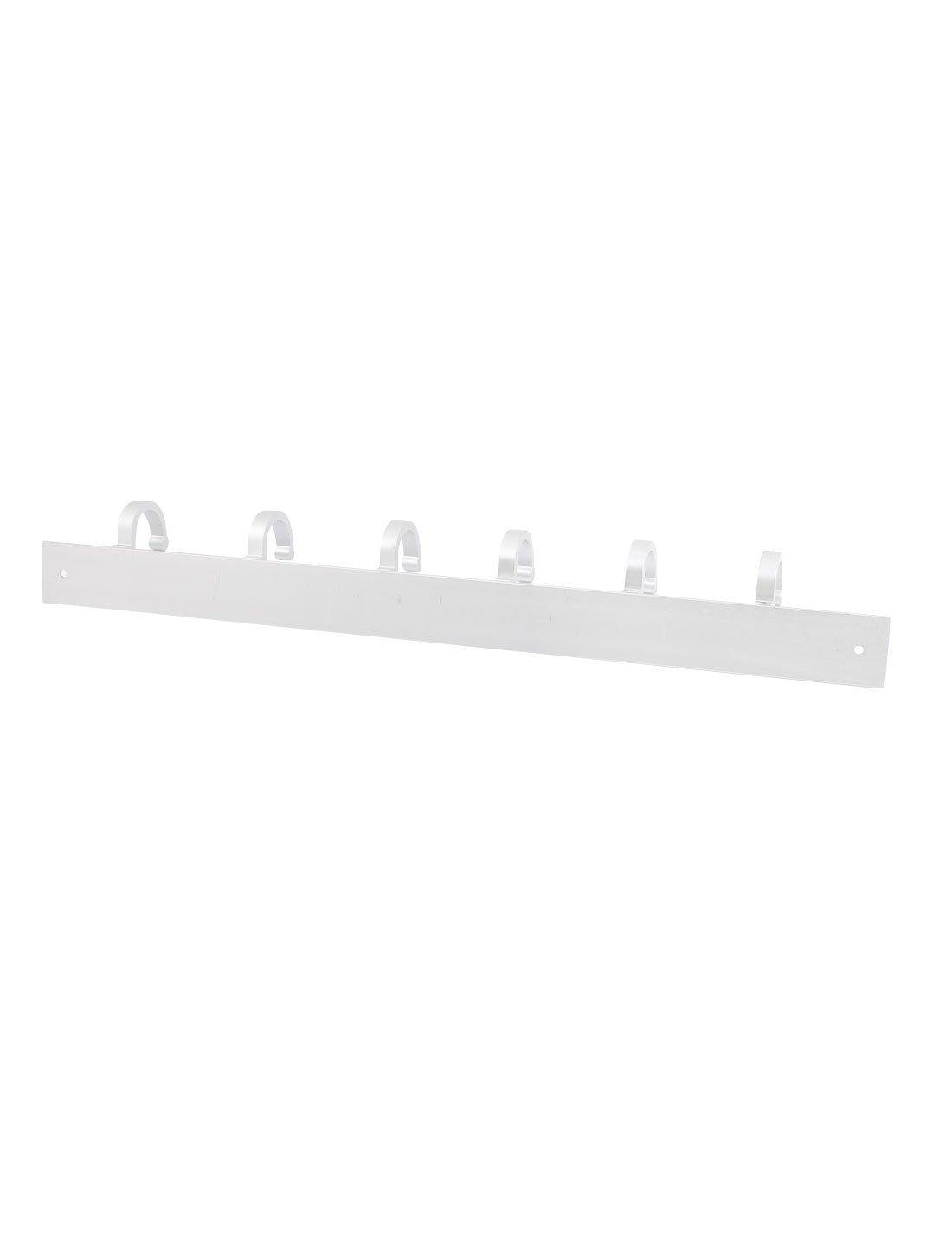 Amazon.com: eDealMax de aluminio Ajustable del listón Con ganchos 6 Suspensión de la capa del Sombrero Ropa de montaje en pared: Home & Kitchen