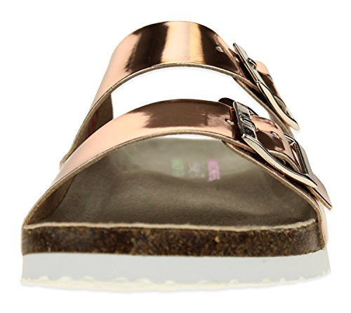 Strap Skechers Sandal Women's Gold Double Foam Memory Rose IIxf7