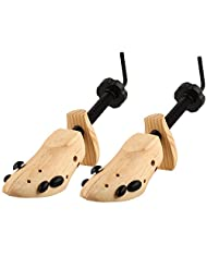 Unisex Professional 2-Way Shoe Stretcher Size 5-13, 2-Way, Length & Width, Wood Set of 2