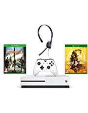 Xbox One S 1TB Console - Tom Clancy's The Division 2 Bundle + Official Xbox One Chat Headset + Mortal Kombat 11