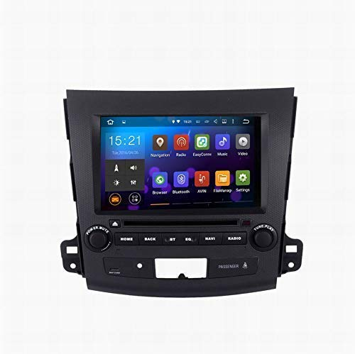 SYGAV Android 5.1.1 Lollipop Quad Core Car Stereo Video DVD Player for Mitsubishi Outlander 2007-2011 with WiFi Bluetooth Radio 2 Din 8 Inch 1024x600 in-Dash GPS Sat Navigation
