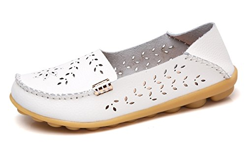 VenusCelia Women's Natural Breathable Walking Flat Loafer