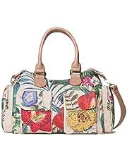 Desigual Bag Clio London Women, Sacs portés épaule femme, Blanc (Crudo), 15.5x25.5x32 cm (B x H T)