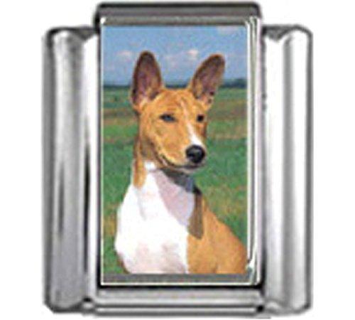 Stylysh Charms Basenji Dog Photo Italian 9mm Link DG047
