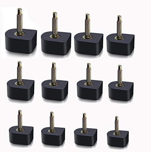 Mini Skater 24 Pairs High Heel Tips Replacement Kit U Shape Black Shoes Dowel Repair Taps Caps for Women ()