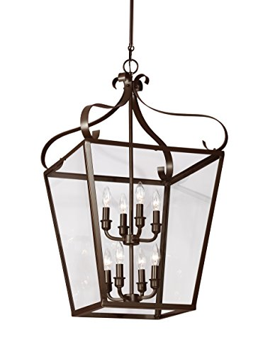 Sea Gull 5119408EN-782 Lockheart Pendant, 8-Light 28 Total Watts, Heirloom Bronze - 28 Sea Gull Lighting