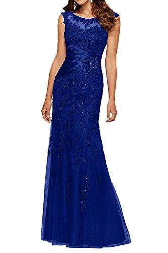 Dunkel Kleider Navy Brautmutterkleider Royal Charmant Festliche Langes Damen Spitze Ballkleider Blau Etuikleider Abendkleider Blau S1Ppq1fcw