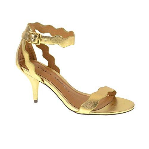 inc gold heels - 7