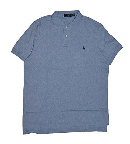 Rlaph Lauren Men's Interlock Medium Fit Polo Shirt (XL, Jamaica Blue/Navy - Male Lauren