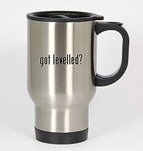 got levelled? - 14oz Silver Travel Mug