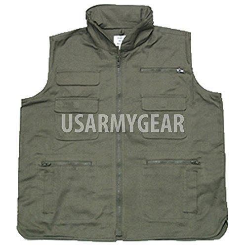 Camo Ranger Vest - New Military Army Outdoor OD GREEN Camouflage Multi Pocket Ranger Collar Vest M