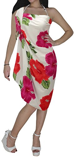 Womens Wrap Cover up Sarong Beach Wear Pareo Wrap Skirt Bathing Suit Dress Pink