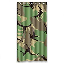 Comeciti Width X Height / 36 X 72 Inches / W * H 90 By 180 Cm Camo Shower Curtains Polyester Fabric Ornament And Gift To Valentine Birthday Him Husband. Anti Bacterial