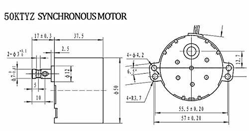 chancs 50ktyz ac 110v 5 6rpm synchronous motor geare box 6w ce pass rh amazon com 3 Phase Electric Motor Diagrams synchronous electric motor wiring diagram