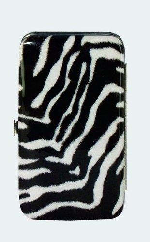 - Zebra Stripe Animal Print Wristlet Holds Phone & Essentials Wallet Strap