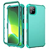 iPhone 11 Pro Case,SKYLMW Hybrid Three Layer Shock-Absorption with Hard PC Soft Silicone Protective Cover for iPhone 11 Pro 5.8 inch 2019,Green