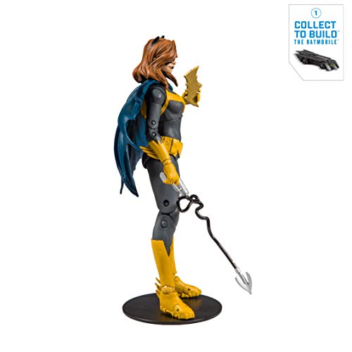 McFarlane Toys - DC Multiverse - Batgirl: Art of The Crime Action Figure with Build-A Rebirth Batmobile (Piece 1)