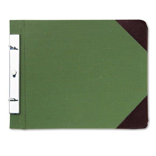 Canvas Sectional Post Binder (Wilson Jones - Canvas Sectional Post Binder, 8 1/2 x 11, 4-1/4 Center, Green 278-27 (DMi)