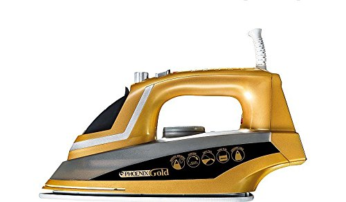 TELEbrands-HBN Phoenix Gold Iron with Built-In Steam Generator & Ceramic Sole Plate Easy & Safe