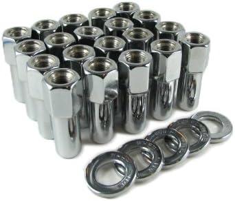 """New single 1//2/"""" 20 RH thread Chrome Mag lug nut with washer Standard mag wheels"""