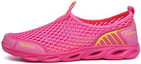 カップルのアップストリームの川のハイキングアウトドアスポーツやレジャーの女性と男性のウォーターシューズサーフィンビーチスイミングシュノーケリングと速乾性排水通気性のソフトで軽いカット ポータブル (色 : Pink, Size : US6.5)