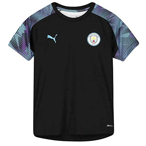 - PUMA 2019-2020 Manchester City Training Football Soccer T-Shirt Jersey (Black) - Kids