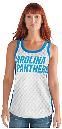 Carolina Tank - GIII For Her NFL Carolina Panthers Women's Opening Day Mesh Tank Top, X-Large, White/Black