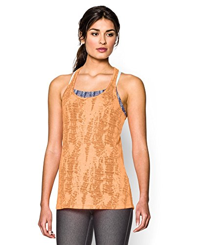 Under Armour Womens UA Charged Cotton® Tri-Blend Printed Tank Large Afterglow