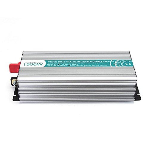 US Warehouse - 1500W DC12V to AC110V/220V Pure Sine Wave Pow
