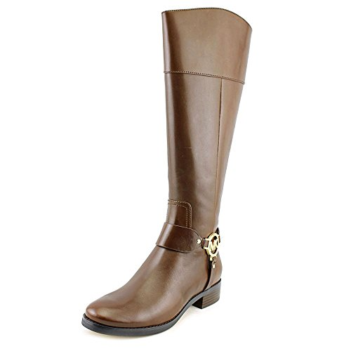 Michael Michael Kors Women's Fulton Harness Riding Boot Mocha Size ()