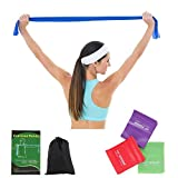 ECGOIOE Flat Exercise Band Set of 3, TPE Wide Resistance Ranges 5-21LBs Bands for Home Gym, Physical Therapy, Sport, Pilates, Stretch, Yoga, Strength Training ...