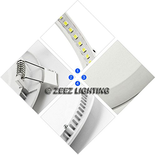 ZEEZ Lighting - 25W 11'' (OD 11.75'' / ID 10.75'') Round Cool White Dimmable LED Recessed Ceiling Panel Down Light Bulb Slim Lamp Fixture - 10 Packs by ZEEZ (Image #5)