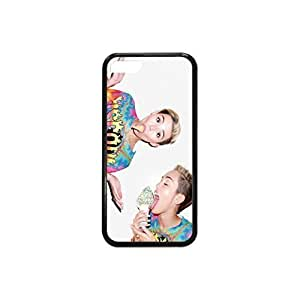 MMZ DIY PHONE CASEiphone 6 plus 5.5 inch Case Miley Cyrus Plastic and TPU Case in Black and White Color